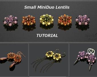 Small MiniDuo Lentils - PDF beading pattern