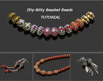 Kleine Beaded Beads - oorbellen, armband, halsketting - PDF beading patroon