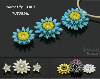 Water Lily 3 in 1 - PDF beading pattern