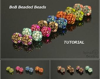 BoB Beaded Beads - Earrings, Bracelet, Necklace - PDF beading pattern