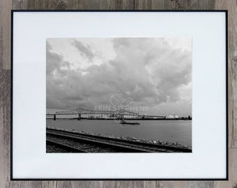 Fine Art Photograph - Mississippi River Clouds - Louisiana