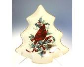 Lenox Winter Greetings Tree Shaped Candy Nut Serving Dish Christmas China