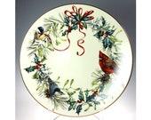 Lenox Winter Greetings 12 Inch Round Deep Serving Platter Christmas Birds China