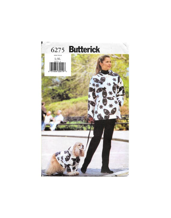 b44a0c61550 Butterick 6275 Misses Misses Petite Hoodie and Dog Coat