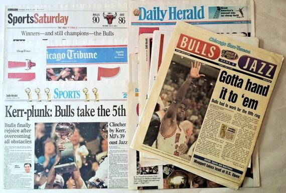 enorme sconto bene fuori x acquista per il più recente Newspaper Lot from the Chicago Bulls NBA 1997 Championship