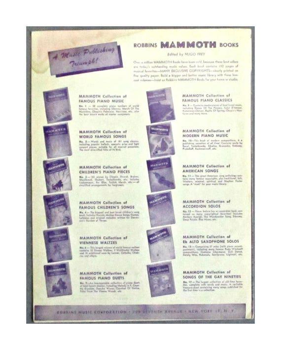 Sheet Music The Old Master Painter 1949 Piano Voice Ukulele Wayne King