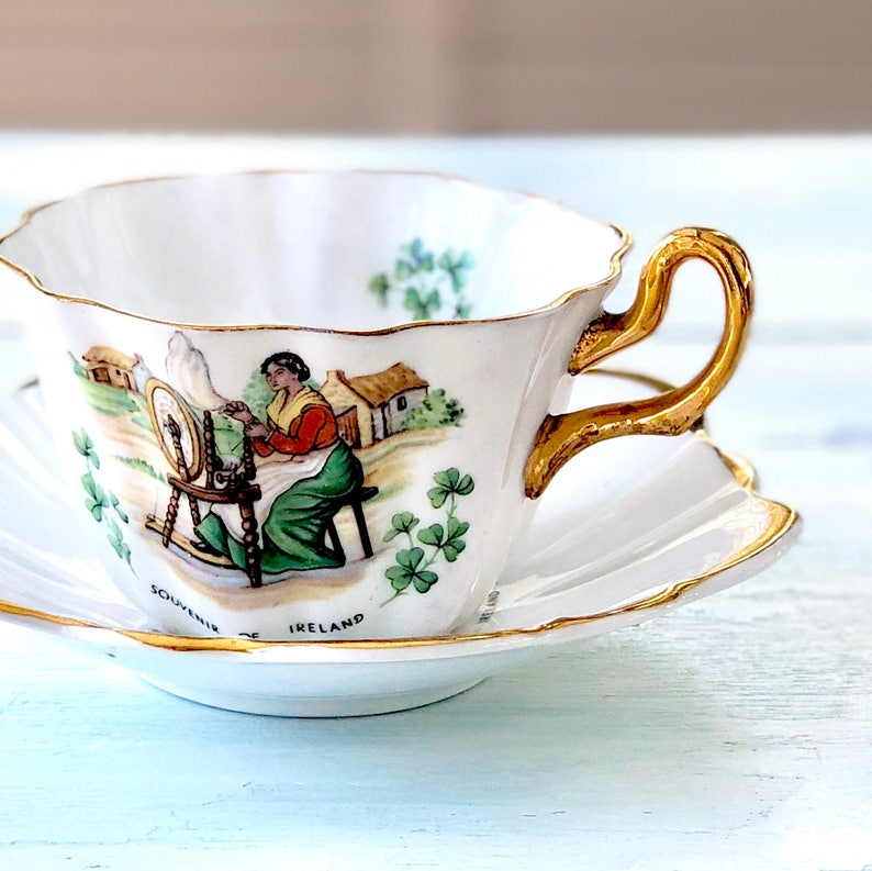 St. Patrick's Day Gift for Her Vintage Royal Tara Tea Cup image 0