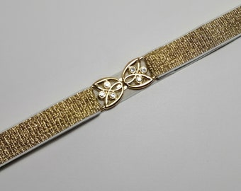 Gold or silver Sparkling belt elastic Wedding belt Silver Skinny waist belt Waist cincher Statement accessory Stretch belt 7/8 inch or 2 cm