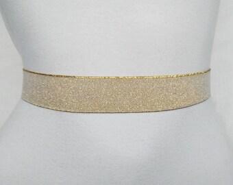 Gold belt Waist cincher Silver Wedding Elastic Stretch belt Bridal Statement accessory Light silver elastic belt womens elastic cinch belt