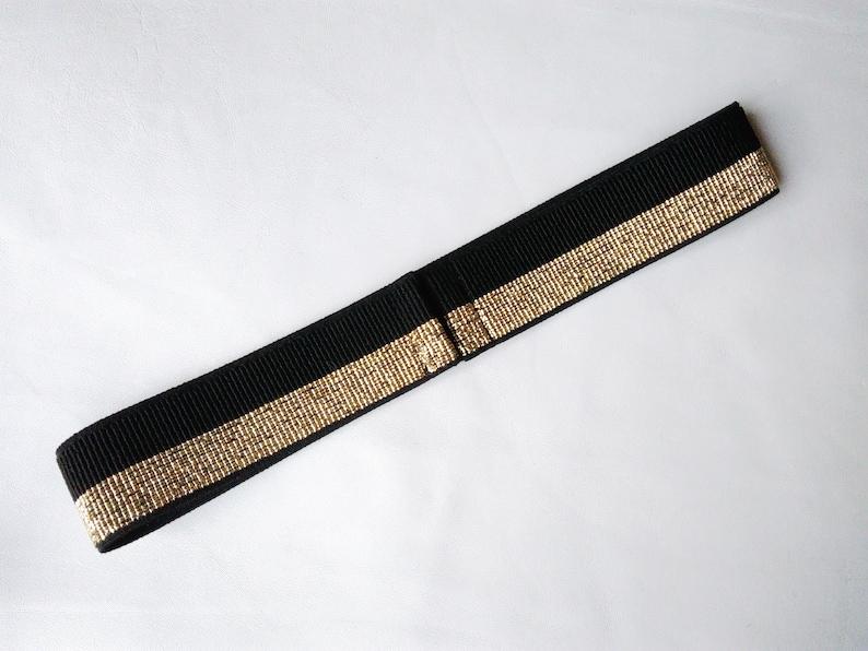 db556451647f88 Stretch Glitter Gürtel schwarz & gold Breite elastische breit   Etsy