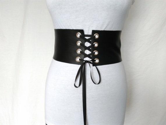 452380e77889 Lacets en cuir ceinture style corset ceinture de Rocker en   Etsy