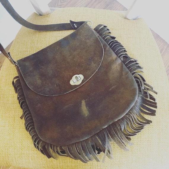 1970s Suede Fringe Bag