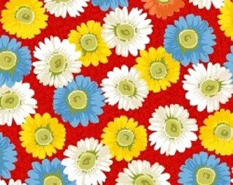 Little red hen little white flowers on red sold by the etsy little red hen large floral on red sold by the half yard mightylinksfo
