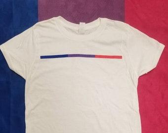 Bisexual Pride Stripe T-Shirt - Bisexual Visibility Tshirt - Bi Flag Tee Pink Purple Blue - BiPride BiVisibility