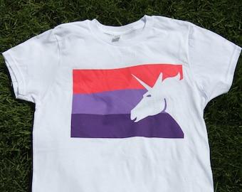 Unicorn Shirt - Cotton T-Shirt - Pink Lavender Purple - Magical Tshirt Men's Women's Tee