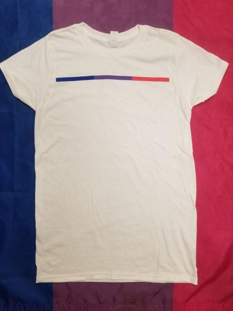 455afbe7 Bisexual Pride Stripe T-Shirt Bisexual Visibility Tshirt   Etsy