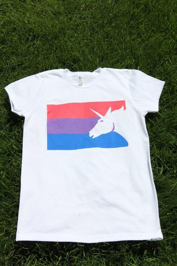 bisexuels drapeau licorne t shirt taille sur mesure etsy. Black Bedroom Furniture Sets. Home Design Ideas