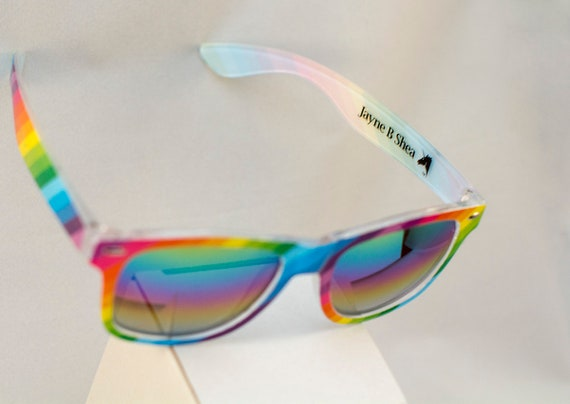 Pride Sunglasses Rainbow Glasses with Dark Lens Rainbow LGBT Festival