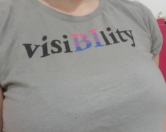 "Bisexual Pride Tee - BiPride T-Shirt - ""visiBIlity"" - Bisexual Visibility Tshirt"