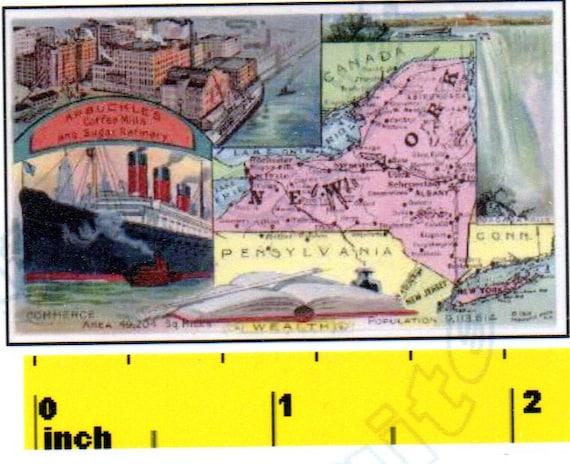 CDHM DOLLSHOUSE Vintage Miniature State of Oregon  1888 MAP  Print