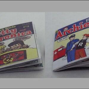 2  Mini Vintage /'RICHIE RICH/'  comics Dollhouse  1:12 scale OPENING