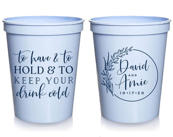 Wedding Stadium Cups #22 Bridal Wedding Favors Party Cup Custom Wedding Cups Vows Are Done