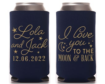 Slim Wedding Can Coolers