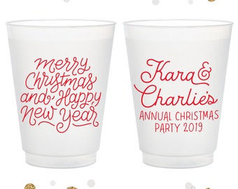 Plastic Cups Cocktail Party Cups Christmas Cups Custom  Cups Naughty or Nice 1704 Santa Cups Christmas Party Cups Christmas Wedding
