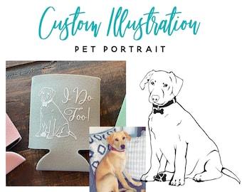 Custom Pet Portrait! Cat Portrait, Dog Portrait, Custom Pet Illustration