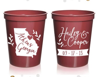 State or Province - Wedding Stadium Cups #2 - Custom - Bridal Wedding Favors, Wedding Cups, Party Cups