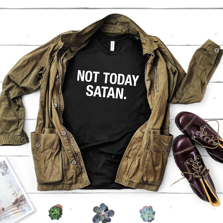 Shirt Pas Chemise Aujourd'hui Satan T Drôle Pour DH9IE2