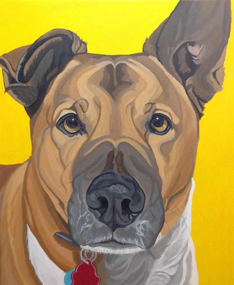 00103bceeca6 Custom Pet Portrait Dog Painting Custom Pet Portrait Pet | Etsy