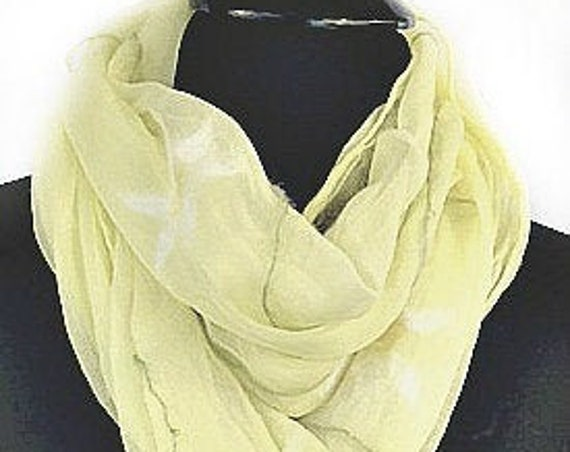 Daisy Felted Scarf, Felted Silk Scarf, Pale Yellow, Fashion Scarf, Gift for her, Beach Wedding, Graceful Ewe Fiber Arts: Field of Daisies