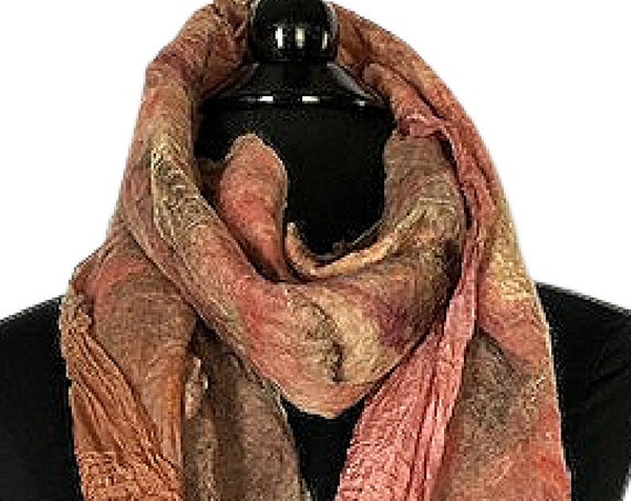 Copper Peach Felted Wrap, Peach Felted Scarf, Wedding/Bridal Accessories, Beach Wedding, Garden Wedding, GiftsforHer, GracefulEweFiberArts
