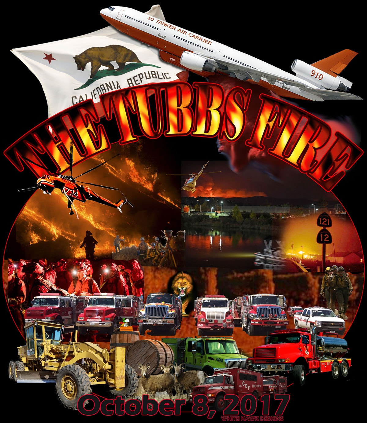 Tubbs Fire Shirt Santa Rosa Tubbs Fire 2017 Santa Rosa Etsy