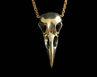 N491 H076 26x9.5x6.5mm 2 Antique Silver Plated Brass Bird Skull Necklace Pendants with 1 Loop Bird Skull Pendant