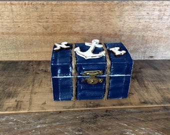 Wedding Ring Box. Nautical Wedding Ring Bearer Pillow Alternative. Nautical Wedding Ring Box. Keepsake Box.