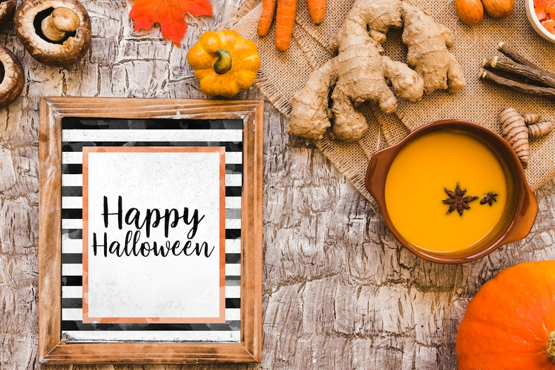 photograph about Happy Thanksgiving Signs Printable named Satisfied Halloween printable indication, Watercolor halloween print, Drop printable artwork, Halloween decor, Slide decor, Halloween indications