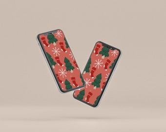 Christmas wallpaper, Phone Wallpaper, Christmas clipart wallpaper, Holiday wallpaper
