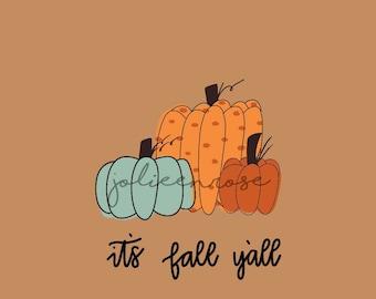 Fall Wallpaper, Pumpkin Wallpaper, Phone Wallpaper, Fall Lock Screen, Its Fall Yall