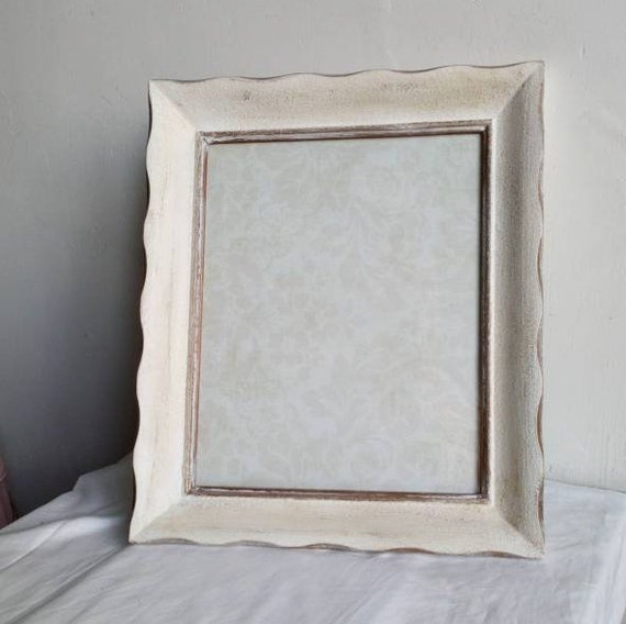 White And Gold Painted Wood Photo Frame Shabby French Chic Etsy