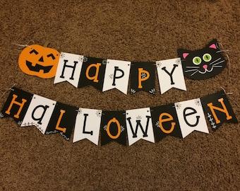Happy Halloween Banner, Halloween decoration, Halloween Banner