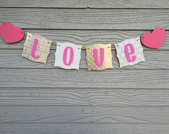 Pink Gold Love Banner