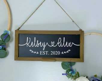 Chalkboard Est. Sign - Newlywed Gift - New Home Gift - Christmas Gift - Home Decor