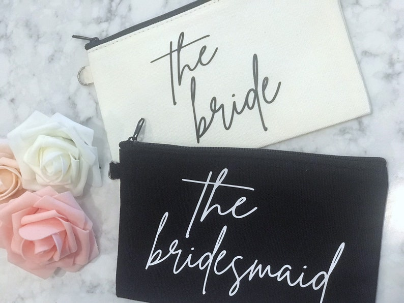 Bridal Party Makeup Bag  Will you be my gift  Bachelorette image 0