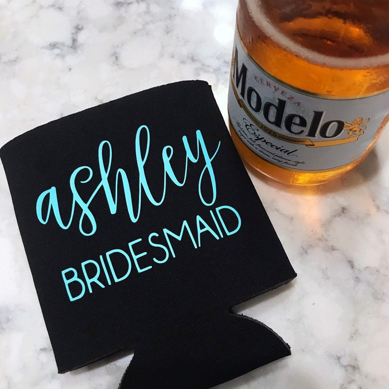 Personalized Bridal Party Can Cooler  Will you be my image 0