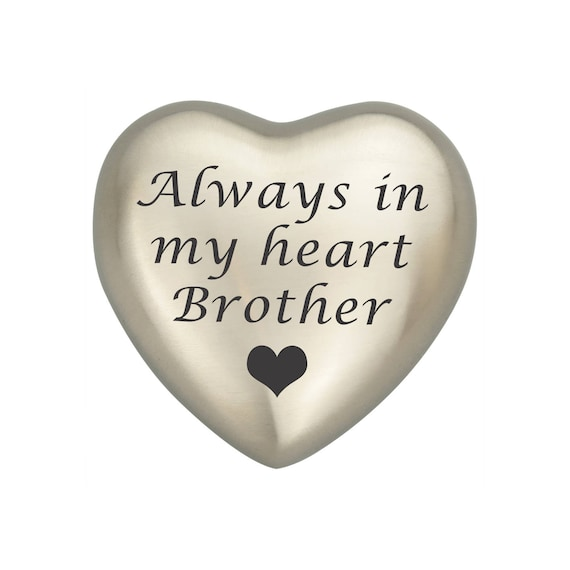 3a581709ef909 Always In My Heart Brother Silver Heart Urn Keepsake for Ashes Cremation