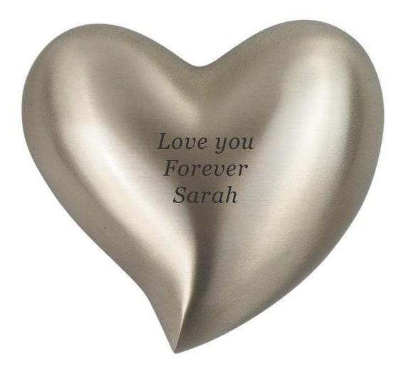 Elegant Vintage Enamel Heart Human Pet Urn Ash Holder Memorial Charm Pendant