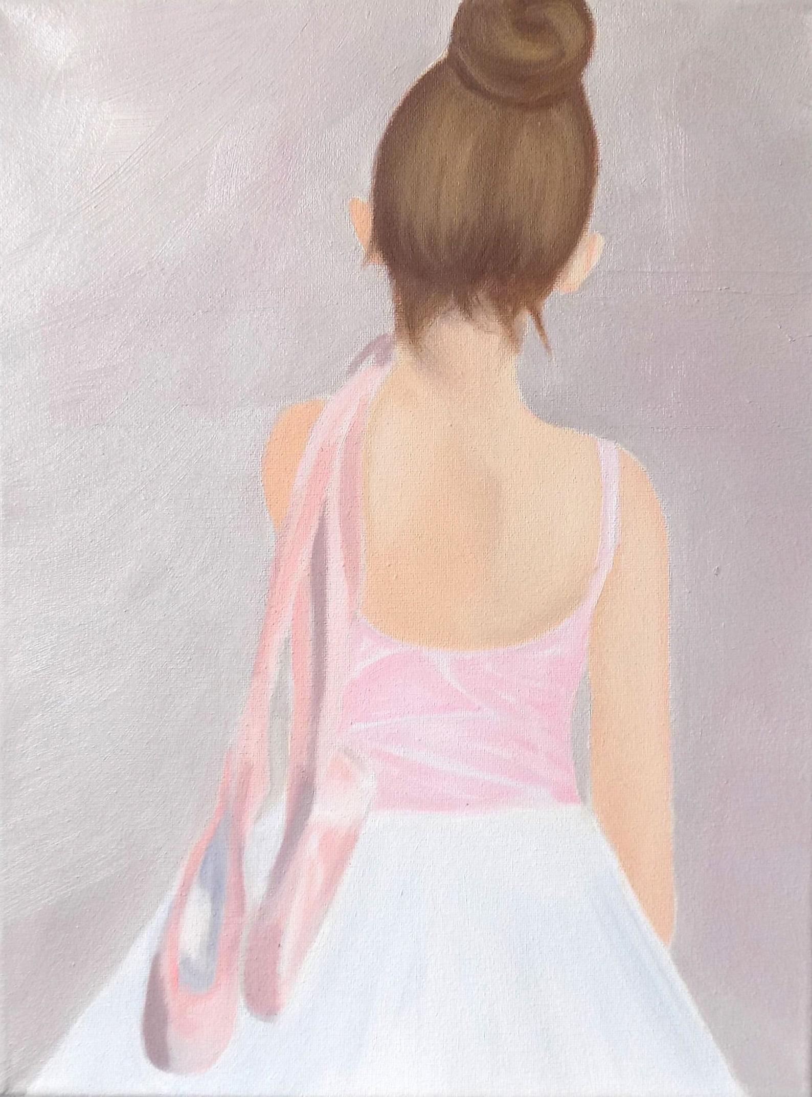 ballet note cards, 4.5 x 6, original art, oil painting, ballerina painting, dance cards, painting cards, children's art, bal