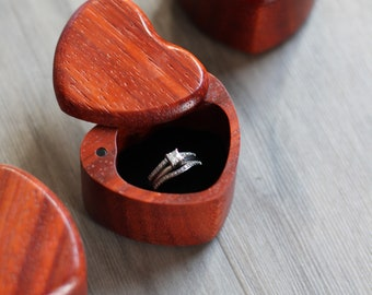 Wood Heart Box Etsy